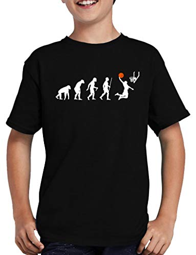 Evolution Basketball T-Shirt Kinder Jordan Dirk Sport Fun 152/164 Schwarz