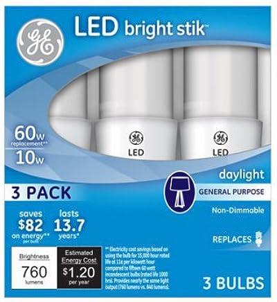 GE Lighting 79369 LED Bright Stik 10-watt (60-Watt Replacement),