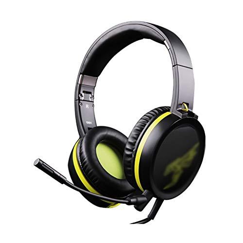 ZZL 7.1 Casque de Jeu Surround Casque de Jeu Détachable Microphone D'annulation du Bruit Pliable pour PC PS4 PS5 Switch Xbox (Color : Black)
