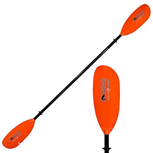 BENDING BRANCHES Angler Scout 2-Piece Snap-Button Kayak Fishing Paddle; (Black Shaft/Orange Blade -...