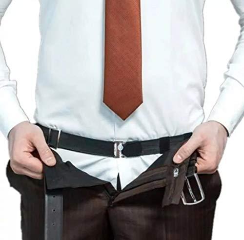 Cinto Elástico Segura Camisa Unissex (PRETO)