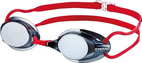 SWANS(スワンズ) 水泳 競泳用 スイミングゴーグル ノンクッションタイプ スモーク×シルバー SR-7M