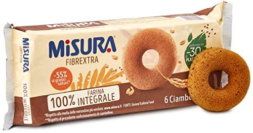 Misura Ciambelline Fibrextra   100% Farina Integrale   Ricche in Fibre   5 Confezioni da 230 grammi