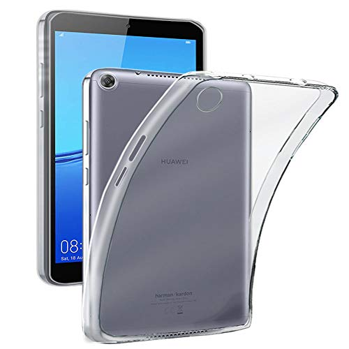 "REY - Cover in Gel TPU Trasparente per Huawei MEDIAPAD M5 Lite 10 (10.1""), Ultra Sottile 0,33 mm, Morbido Flessibile, Custodia Silicone"