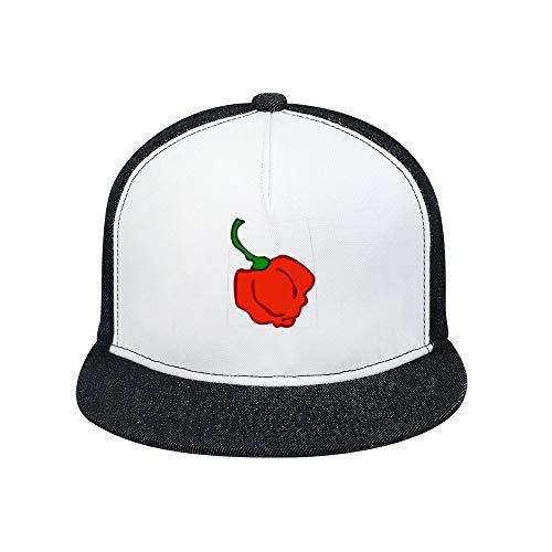 Tamengi Baseball Cap,Trinidad Moruga Scorpion Chili,Unisex Adjustable Solid Sun Hat for Sports Outdoor.
