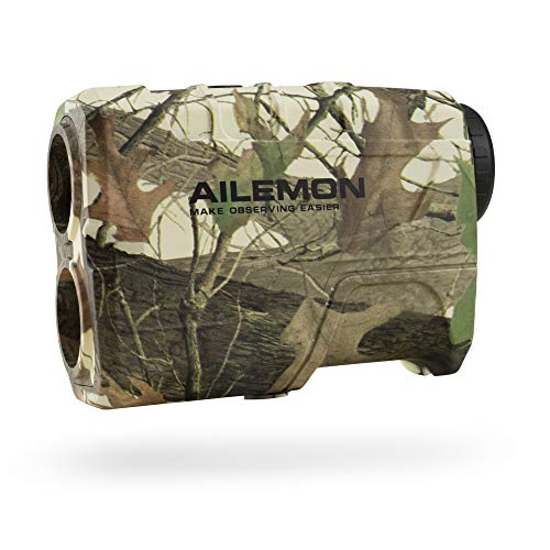 AILEMON 6X Laser Range Finder Rechargeable for Hunting Bow Rangefinder Distance Measuring Outdoor Wild 650/1200Y with Slop Flaglock High-Precision Continuous Scan (CAMO2)