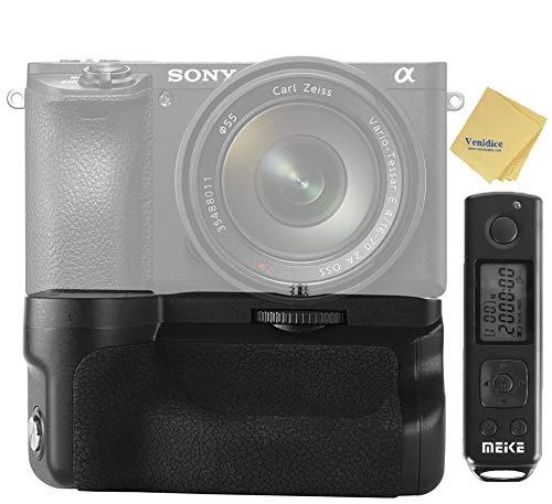Meike MK-A6600 Pro Kameragriff, Vertikaler Battery Grip, Batteriegriff mit 2,4 G kabelloser Fernbedienung für Sony A6600, funktioniert mit dem NP-FZ100 Akku
