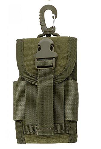 ZENDY MOLLE Militare tattico, fondina borsa, borsa titolare, fondina tattica esterna Molle borsa a vita anca in vita, borsa del portafoglio borsa, cassa del telefono, tasca gadget (Verde militare)