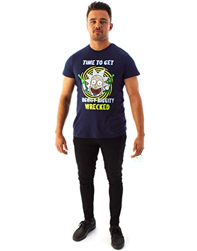 Rick and Morty Camiseta Hombre Riggity Riggity Wrecked Manga...