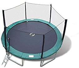 Best Trampoline USA - Galactic Xtreme Gymnastic Round Trampoline with Safety Net Enclosure Heavy Duty Gymnastic 550 lbs Capacity Frame & Springs (15 FT, 15 FT Round Trampoline)