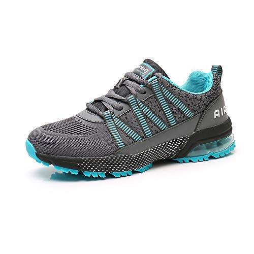 Zapatos para Correr Hombre Mujer Air con Absorción de Impactos de Aire Zapatillas de Deportes Sneakers Gimnasio Entrenamiento al Aire Libre Blue40