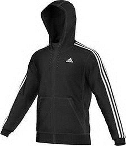 Adidas Sport Essentials Veste à Capuche Homme, Noir/Blanc, FR (Taille Fabricant : XL)
