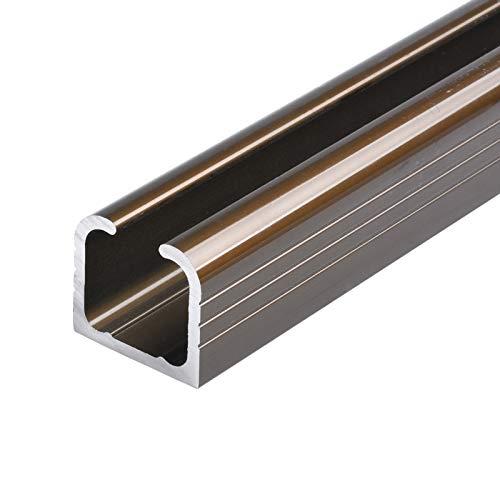 Herraje para Puerta Corredera Kit Riel de hardware de puerta de granero corrediza de aleación de aluminio de 3mm de espesor (sin rueda), riel colgante de puerta de madera, el tamaño se puede personali