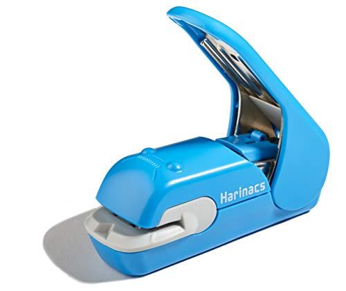Harinacs Staple-free Stapler Press Type Embossing Needleless Mini Stapler No Punching Labor Saving For Office, Student blau