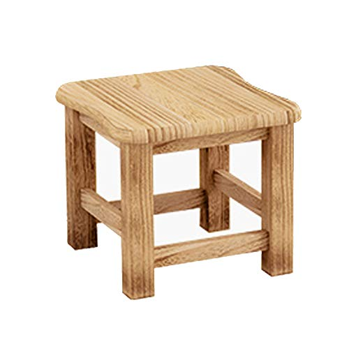 Dlscc Household Solid Wood Stool Fashion Creative Solid Wood Small Square Stool...
