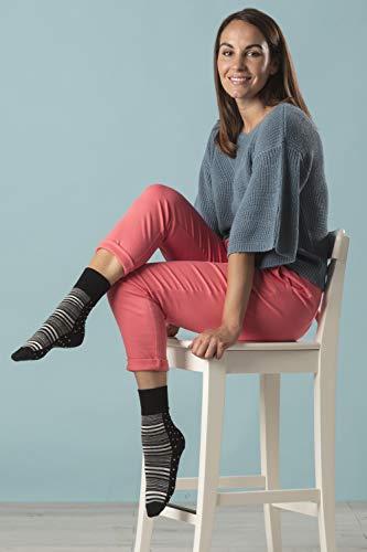 NEW: 6 Pairs Ladies Gentle Grip No Elastic Socks 4-8 uk, 37-42 eur (4-8 uk, 37-42 eur, GG203)