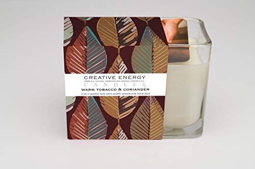 Creative Energy Candle - 2-in-1 Soy Lotion Candle (Warm Tobacco & Coriander)