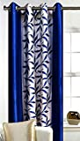Srk Trendz polyresin Window Curtain, 5 feet, Blue, Pack of 1