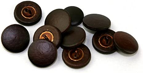 Dill Real Leather Covered Buttons - Button per Austin Genuine Free Shipping Mall Brown