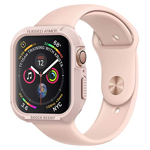 Spigen Rugged Armor Compatibile con Apple Watch Custodia per 44mm Serie 5 / Serie 4 - Oro Rosa