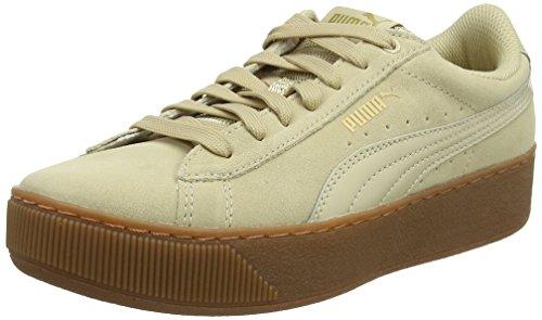 PUMA Vikky Platform, Damen Sneaker, Beige (Pebble), 36 EU (3.5 UK)