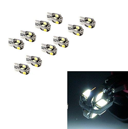 PA LED Lot de 10 x LED de frein lumière CANBUS T10 W5 W # 555 360 ° Super Bright Blanc Canbus 5630 5730 SMD Lampe 12 V