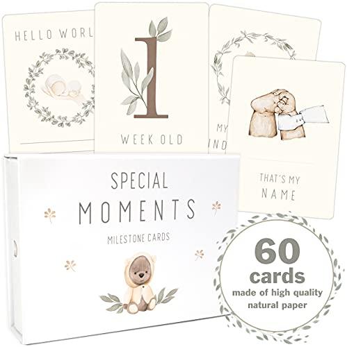 60 Baby milestone Teddy Lou for boys and girls milestone cards set +...