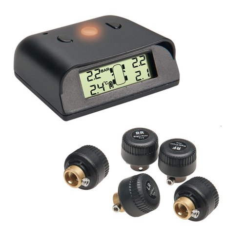 Profi Funk Reifendruck Kontrollsystem 0–4,5bar Kontrolle über Luftdruck und Temperatur. Im Set mit Zusatzsensor