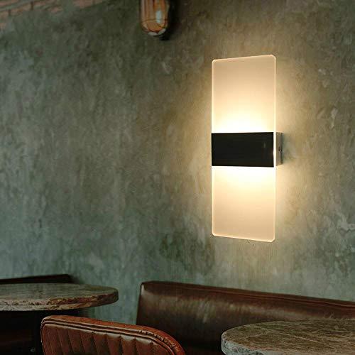 BFMBCHDJ Acryl Moderne Led Wandleuchte Innenbeleuchtung Lampe Wand Schlafzimmer Wohnzimmer Korridor Treppen Dekoration Lampe Schwarz kaltweiß 5 Watt