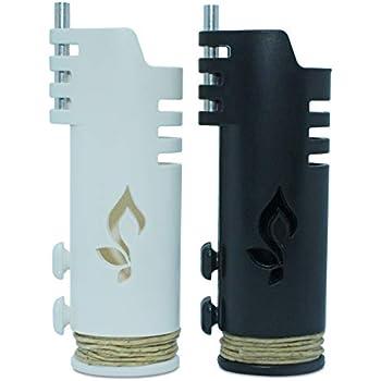 Pride Accessory Hemplights Hemp Wick Lighter 2 Pack Wrapper, Includes 8FT Hemp Wick USA (Black/White)