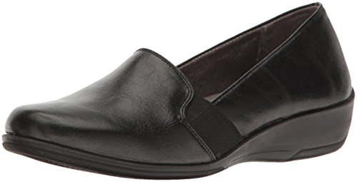 LifeStride Women's Isabelle Loafer Flat, Black, 9.5 W US