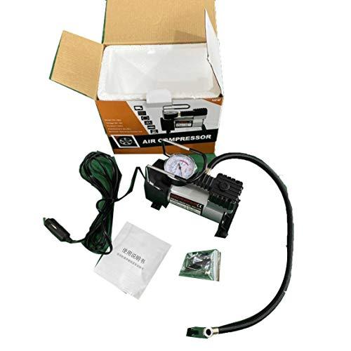 OocciShopp Bomba eléctrica, compresor de Aire eléctrico portátil de 12 V para Coche, Bomba de inflado de neumáticos para Moto B, Bomba de inflado de neumáticos, Estilo de Coche (Negro)