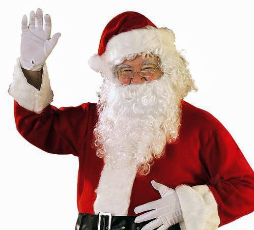 TopWigy Santa Claus Wig and Beard Set Costume Wig Silver White Color for Men Synthetic Christmas Cosplay Wigs