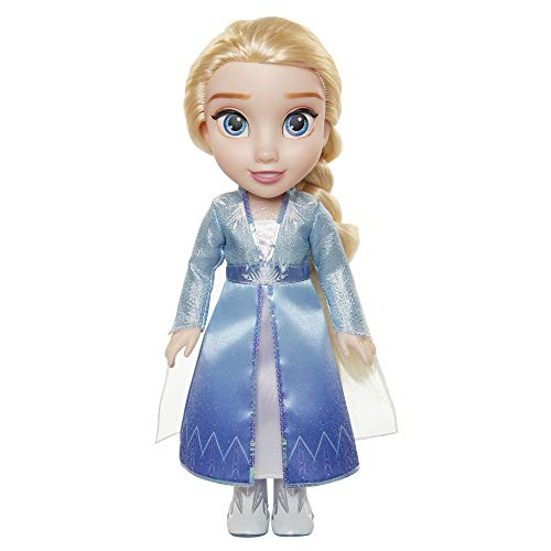 Jakks 207054 Die Eiskönigin 2 - Elsa auf ReisePuppe, 35 cm