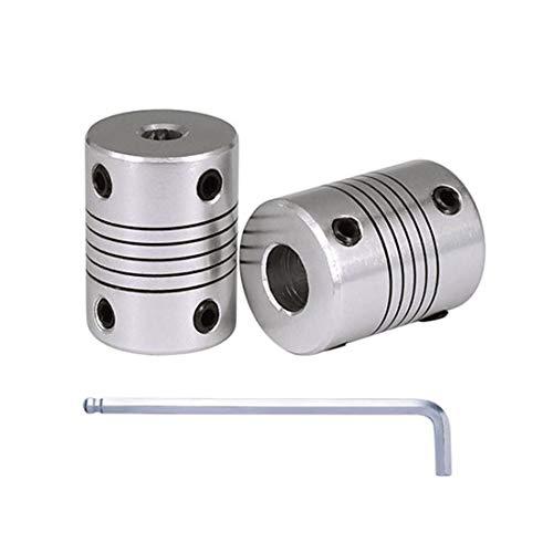 2 pezzi in alluminio Cnc Stepper Motor flessibili Giunti D25 * L30 albero accoppiatore 5mm/6mm/6,35mm/8mm/10mm/12mm/12,7mm, 6,35mm x 10mm