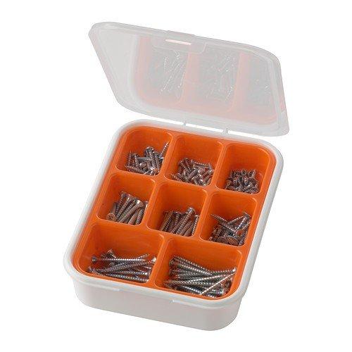 Ikea FIXA Schrauben-Set; 200 Teile; Verzinkter Stahl
