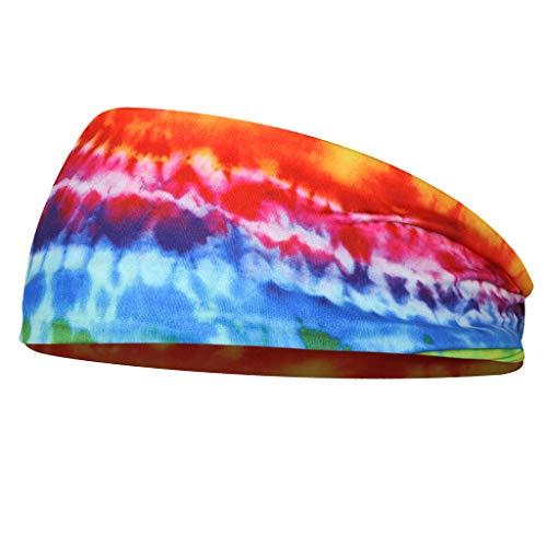 Sharplace Sport Stirnband Unisex Schweißbänder Sport Kopfband aus Polyester für Laufen - B