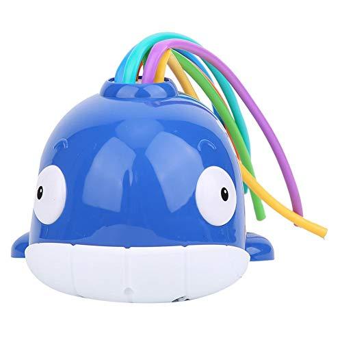 Wosume Juguete de rociador Fresco Colorido Seguro, Juguete de rociador de Agua de Verano, Fiesta en la Piscina de ABS, Juego de Agua en el césped, Fiesta de Verano para Jugar al(Sprinkle Whale Blue)