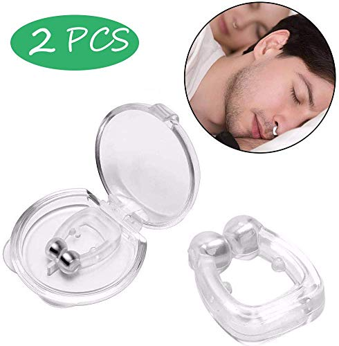 Anti Snore Nose Clip Snoring Solution Silicone Magnetic Stop Snoring Nose Device Mini Comfortable Snore Reducing Aids 2pc