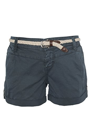 Eight2Nine Damen Chino Shorts Hose mit Flecht-Gürtel Blue M