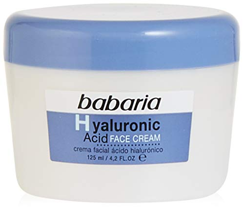 Babaria Hyaluronic Acid Crema Facial Ultrahidratante, 125 ml, Pack de 1
