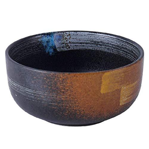 HUAHUA Bowls Tazón Cuenco de cerámica de estilo japonés instantánea de fideos de cerámica popular cuenco de la cultura creativa pintado a mano grande de la cultura popular Cuenco de arroz cuenco de fi