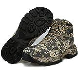 TH&Meoostny Zapatos de Senderismo para Hombre Botas Militares Botas de Camuflaje para Exteriores Botas Impermeables Botas de Caza 002 Khaki 8.5