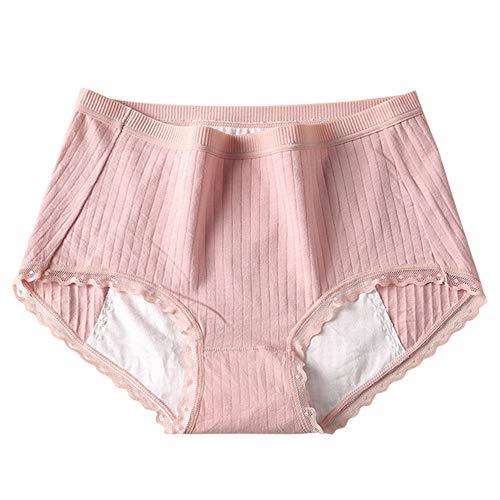 Bragas Postparto Braguitas Mujer Bragas Menstruales NiñAs Bragas Menstruales Absorbentes Braguitas Mujer Algodon Bragas De Algodon Pink,X-Large