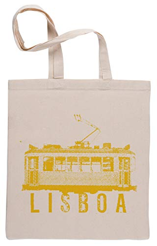 Lisboa Tramway Bolsa De Compras Shopping Bag Beige
