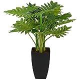 INtrenDU Künstliche Dekopflanze Palme Kunstpflanzen im Topf Kunstblumen Fensterdeko künstliche Pflanze (Variante 3)