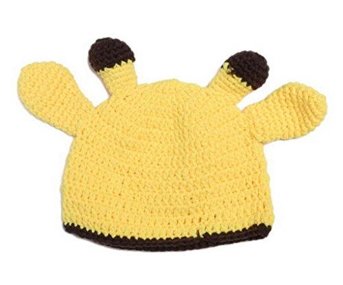 Bigood Chapeau Bébé Déguisement Photographie Crochet 0-24 Mois Jaune