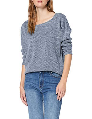 ONLY Damen ONLALBA 3/4 TOP JRS NOOS Pullover, Blue Fog, L