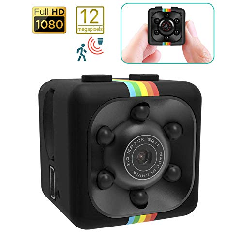 DAM Micro cámara SQ11 Full HD 1080 con visión Nocturna y Sensor de Movimiento
