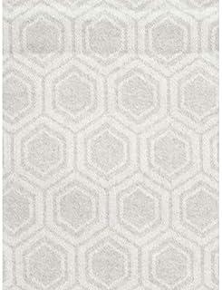 Nido Notte Italia 奢華流蘇裝飾超大毯子重復幾何圖案灰色